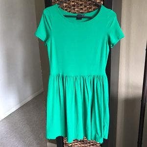 Simple cotton jelly green dress!
